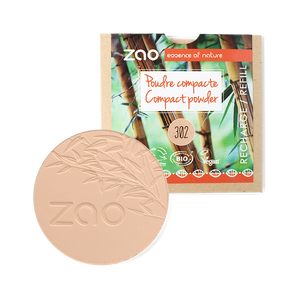 ZAO-Makeup-302-Beige-Orange-Compact-Powder-Refill