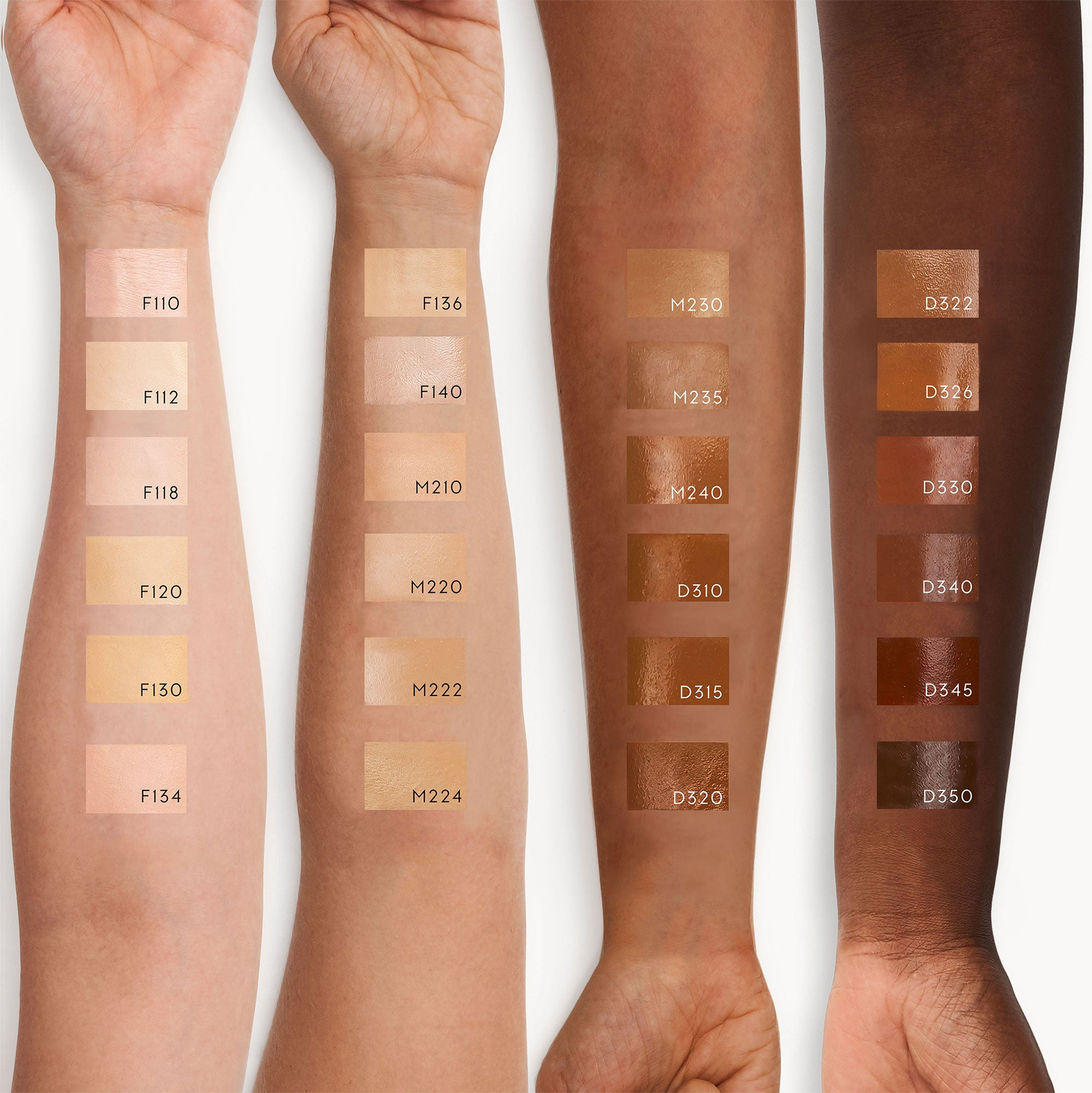 Kjaer-Weis-Invisible-Touch-Liquid-Foundation-swatches