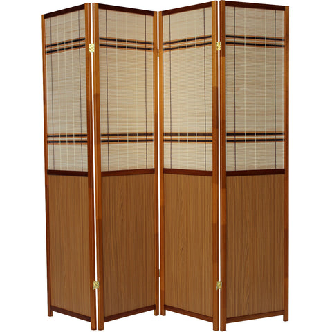 LUXURY Wood Panel Folding Room Divider Privacy Screen. High Quality Heavy Weight, 1031184 - Oak Panel