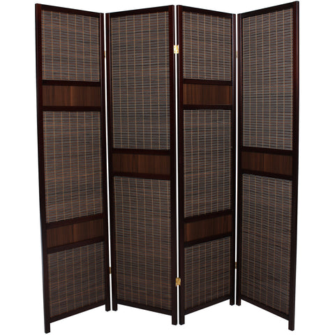 LUXURY Wood Panel Folding Room Divider Privacy Screen. High Quality Heavy Weight, 1031234 - Mahogany Strip
