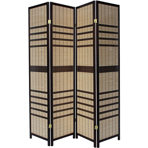LUXURY Wood Panel Folding Room Divider Privacy Screen. High Quality Heavy Weight, 1037704 - Light Cane Striped