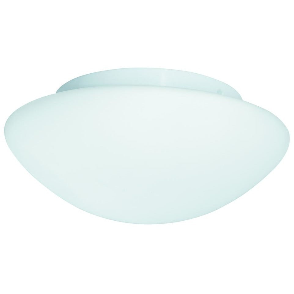 *CLEARANCE* Searchlight 1910-40 'Dome' Frosted Glass Bathroom Ceiling Light IP44, [product_variation] - Freedom Homestore