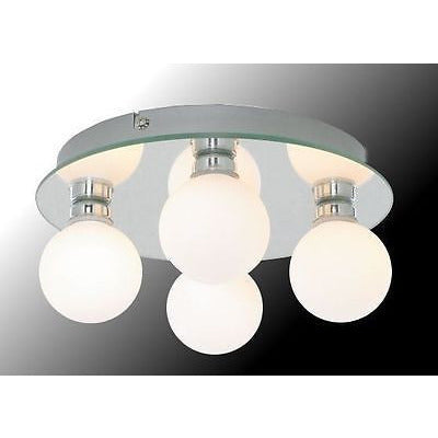 Marco Tielle 'Hollywood' 4 Globe Bathroom Ceiling Light. IP44. Mirror Base.