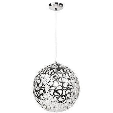 Sompex Futuristic Range of Bauble Ceiling Pendant Lights in White & Silver, Orient at Freedom Homestore
