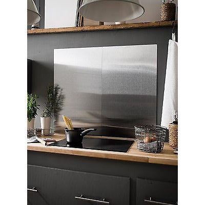 Brushed Stainless Steel Splashback - Kitchen Cooker Wall Protector. 50x90, 50x60, [product_variation] - Freedom Homestore