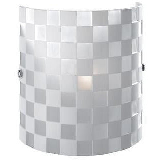 Sompex 'WALZ' White Funky Spotted Designer Glass Wall Lights, Chequered at Freedom Homestore