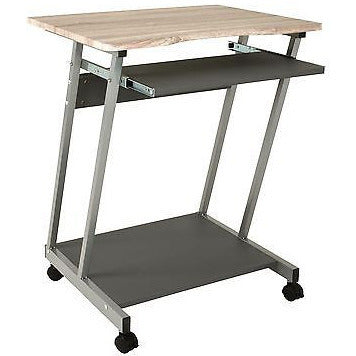 Computer Desk / PC Table. Oak. Trolley Z Shape 91042