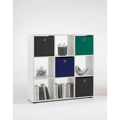 'Mega' Range - Square Storage / Display Shelf System. Floor Standing. Mega 5.