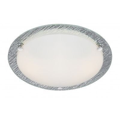 Searchlight Flush 2 Bulb Ceiling Light in Polished Chrome Frosted Glass 6532-32, [product_variation] - Freedom Homestore