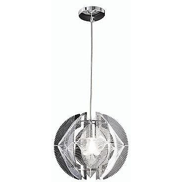 Sompex Futuristic Range of Bauble Ceiling Pendant Lights in White & Silver, Kineta at Freedom Homestore