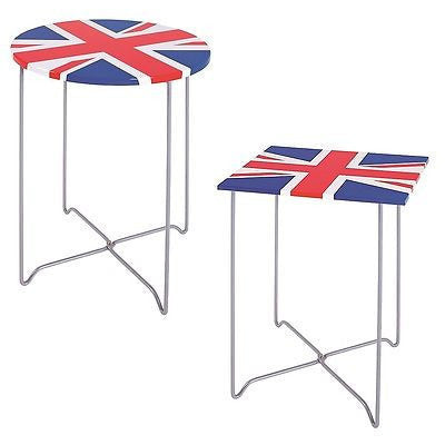 Union Jack British Flag Side/End Tables. Patriotic Furniture., at Freedom Homestore