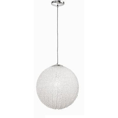 Sompex Futuristic Range of Bauble Ceiling Pendant Lights in White & Silver, Curl at Freedom Homestore