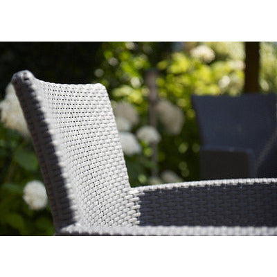 Allibert 'Iowa' Rattan Outdoor Garden Furniture Dining Chair. Grey / Anthracite, [product_variation] - Freedom Homestore