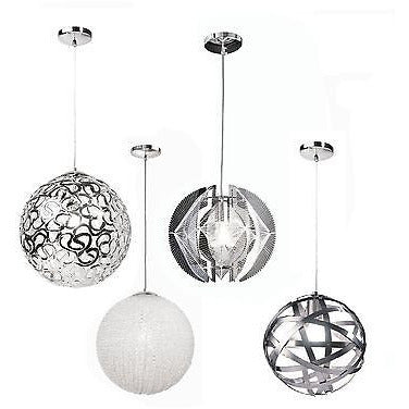 Sompex Futuristic Range of Bauble Ceiling Pendant Lights in White & Silver, at Freedom Homestore