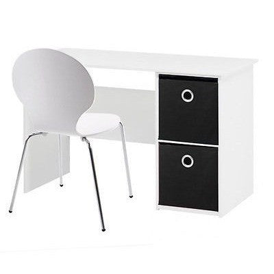 Mega Range, White PC Computer Desk, With Storage Boxes Included.