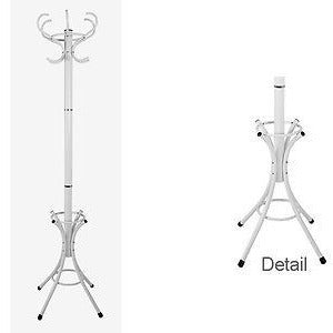 Coat Rack Hat Stand Contemporary Hallway Furniture White Black, White
