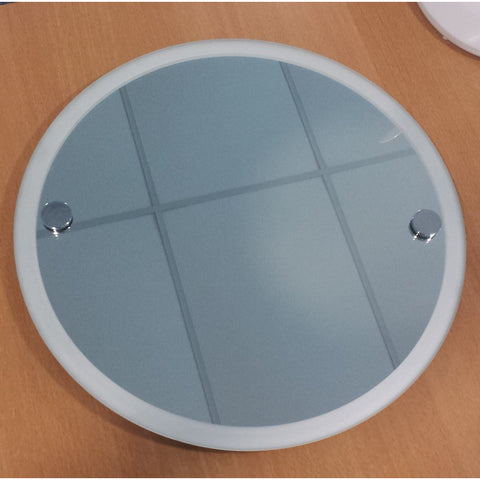 *Clearance* Roper Rhodes Bathroom Mirror. 45cm Round w Frosted Rim. Lincoln
