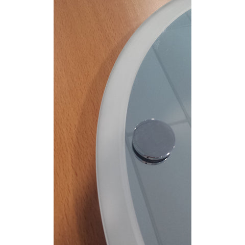 *Clearance* Roper Rhodes Bathroom Mirror. 45cm Round w Frosted Rim. Lincoln, [product_variation] - Freedom Homestore