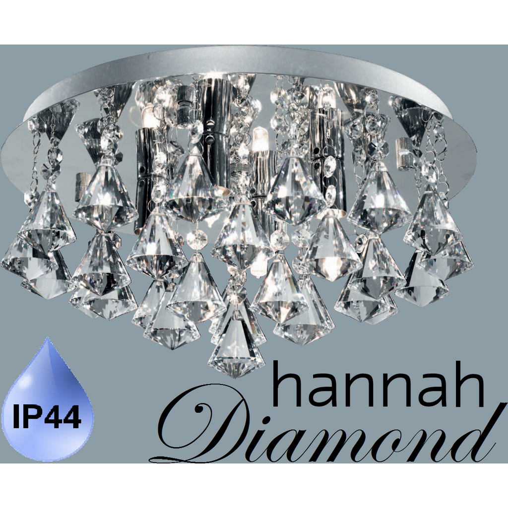 "Marco Tielle BATHROOM IP44 ""Hannah Diamond"" 4 Light Ceiling Chandelier 2204-4CC, [product_variation] - Freedom Homestore"