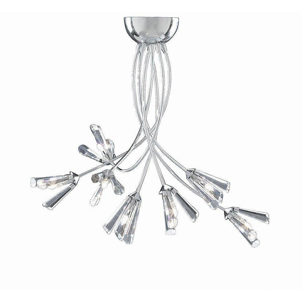 Searchlight 'Julienne' Crystal Flower Ceiling Pendant Light 2447-7, [product_variation] - Freedom Homestore
