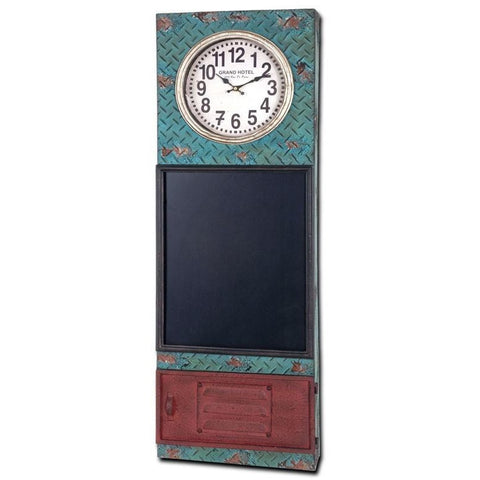 Antique Effect Weathered Wall Clock With Chalk Board. 'Rustic Range' Shabby Chic, [product_variation] - Freedom Homestore