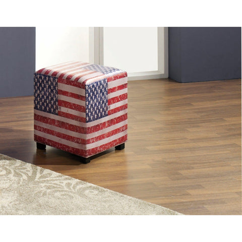 UK or US Flag Stool / Pouffe / Footrest. - Brittania. Star Spangled Banner., [product_variation] - Freedom Homestore