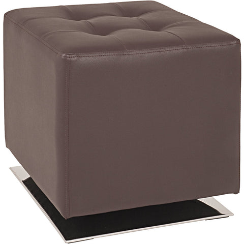 'Cube' Faux Leather Padded Footstool/Poof/Pouffe Ottoman., [product_variation] - Freedom Homestore