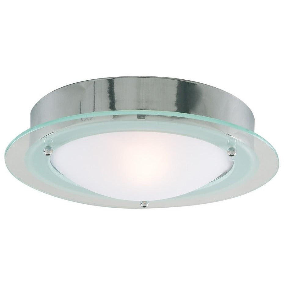 Searchlight 3108CC Bathroom Light. Chrome Flush / Frosted Glass, [product_variation] - Freedom Homestore
