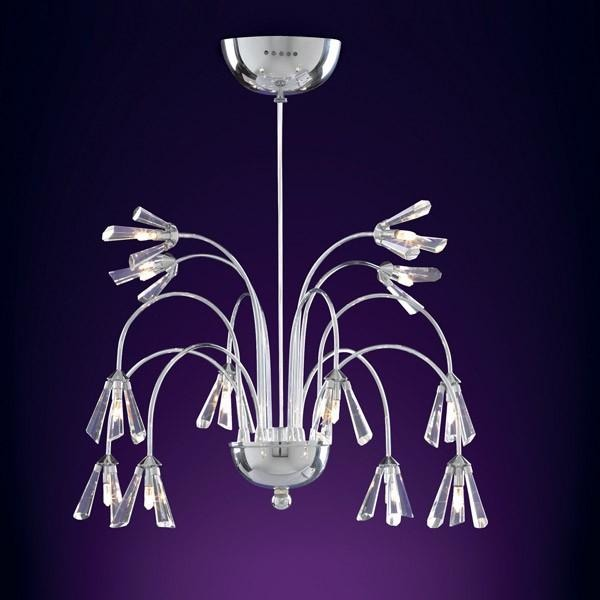 Searchlight 'Julienne' Crystal Flower Ceiling Pendant Light Chandelier 33412-12, [product_variation] - Freedom Homestore