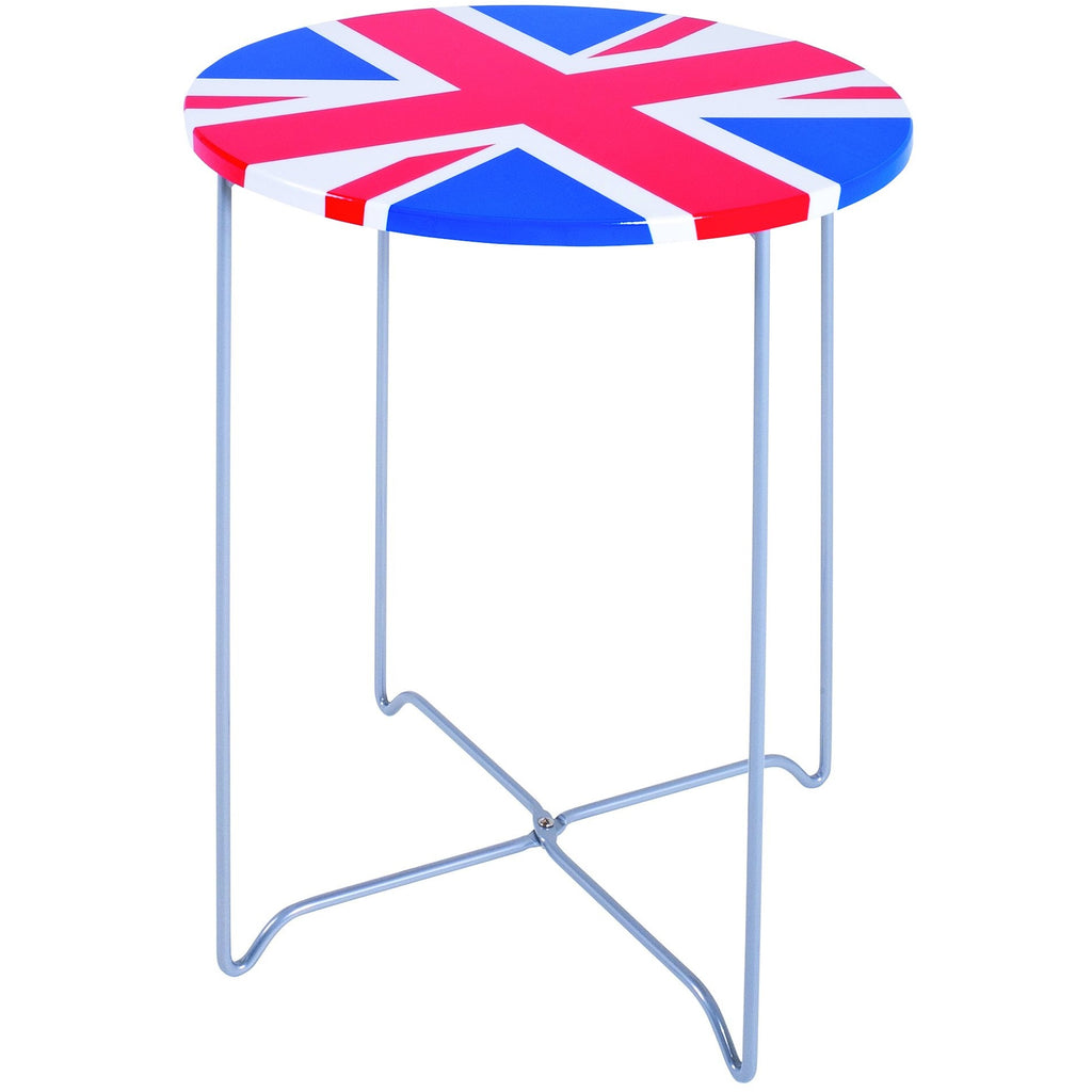 Union Jack British Flag Side/End Tables. Patriotic Furniture.