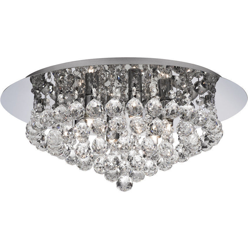 Searchlight 3406-6CC Hanna 6  Light Chrome Flush Clear Crystal Ball G9 Light., [product_variation] - Freedom Homestore