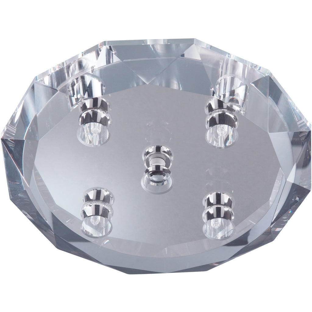 *CLEARANCE* Searchlight 3504-4 'Dallas' Chunky Crystal & Chrome Ceiling Light, [product_variation] - Freedom Homestore