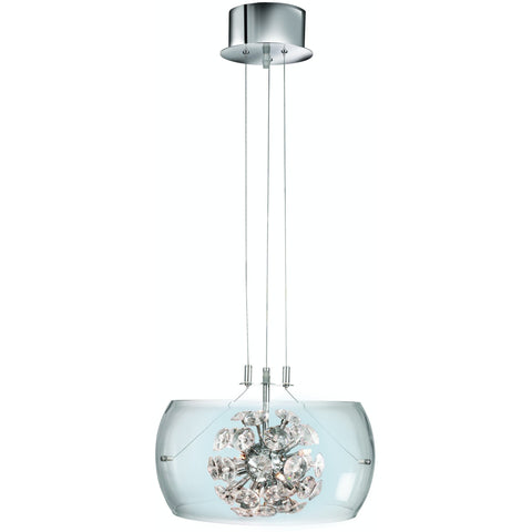 *CLEARANCE* Searchlight 3809-9cc 'Safia' Glass Drum Pendant Ceiling Light