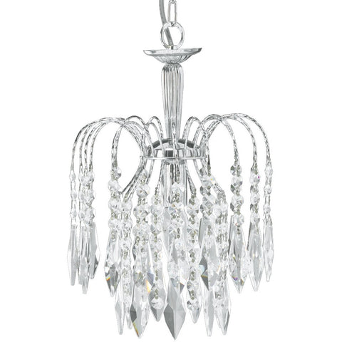 "Searchlight ""Waterfall"" Chrome & Crystal Drop Marie Therese Chandelier Lights, [product_variation] - Freedom Homestore"