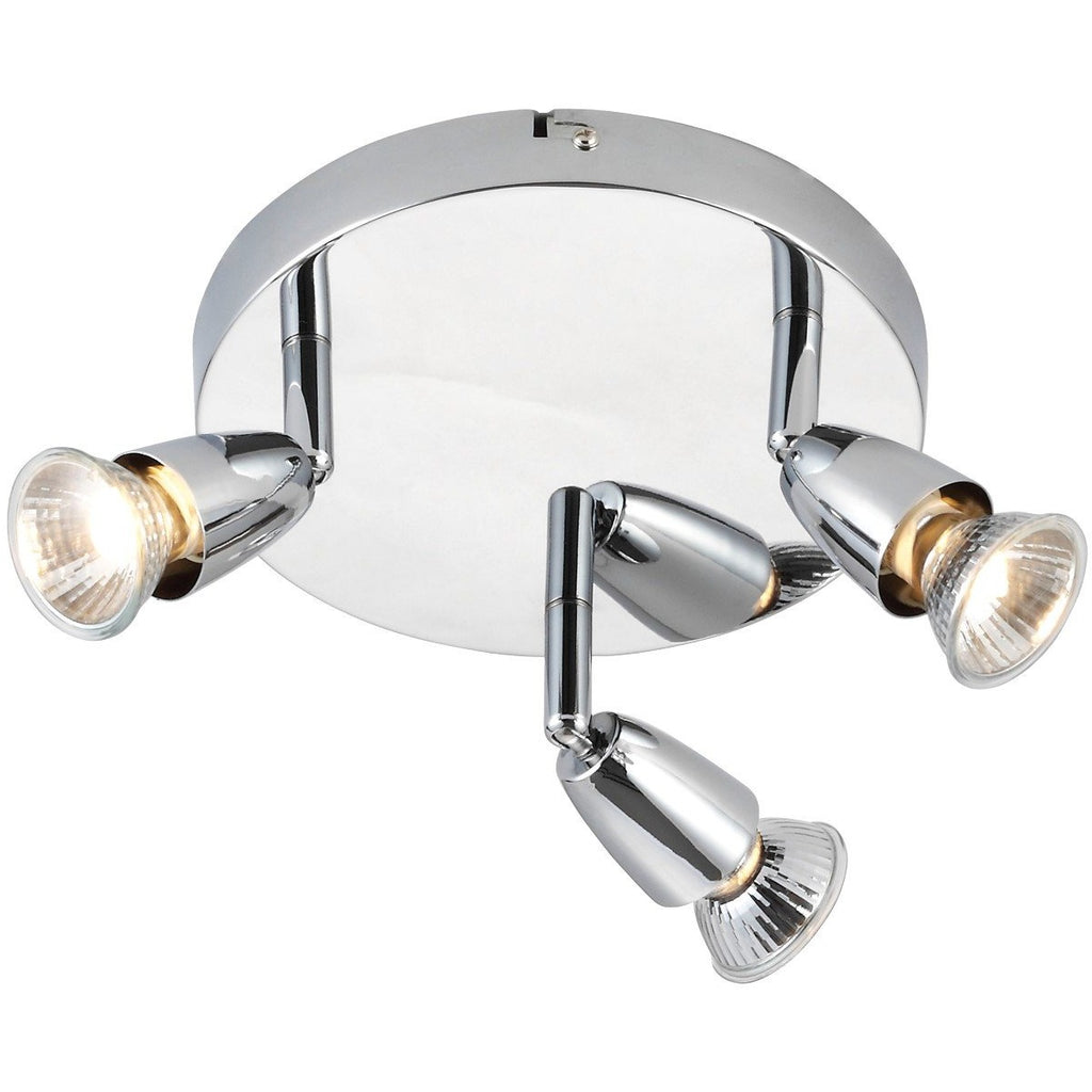 "Saxby ""Amalfi"" 43279 Chrome effect plate Round Light, [product_variation] - Freedom Homestore"