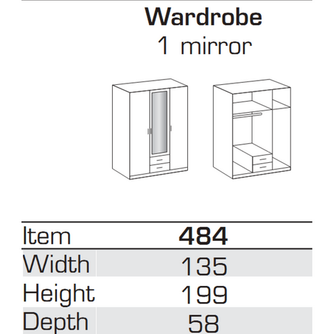 Qmax German Made Bedroom Furniture - Ambassador 3-Door Wardrobe - White, [product_variation] - Freedom Homestore