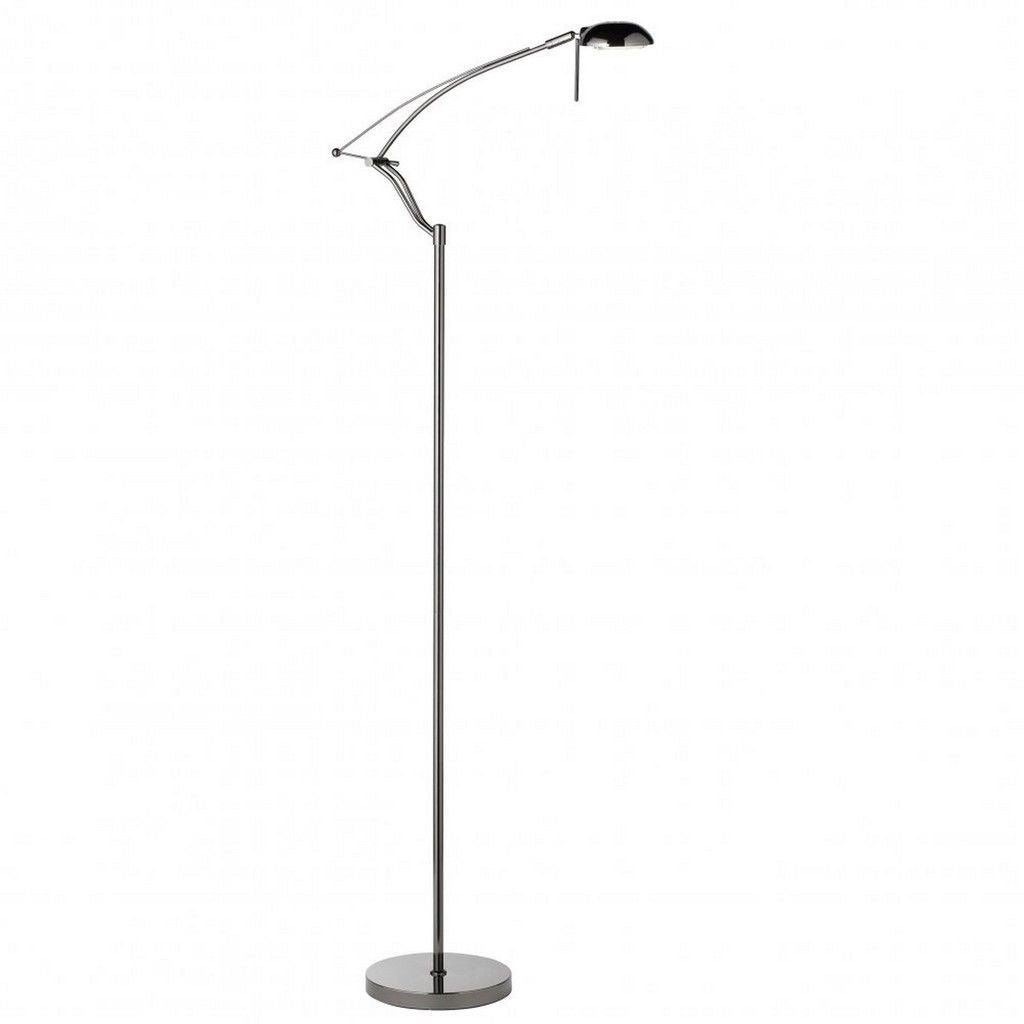Searchlight 4881BC Articulated Adjustable Floor Standing Lamp in Black Chrome, [product_variation] - Freedom Homestore
