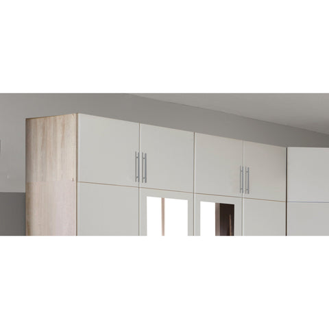 Qmax 'Space' Range. Matching Top-Boxes Only. Alpine White & Oak Finish, [product_variation] - Freedom Homestore