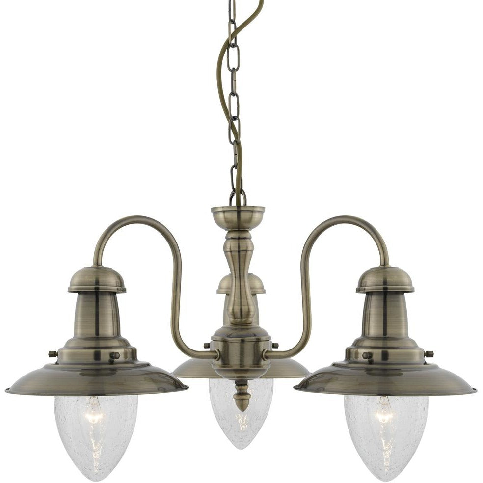 "Marco Tielle ""Fisherman"" Sytle Chandelier, 3-Arm Nautical Light fitting Pendant, [product_variation] - Freedom Homestore"