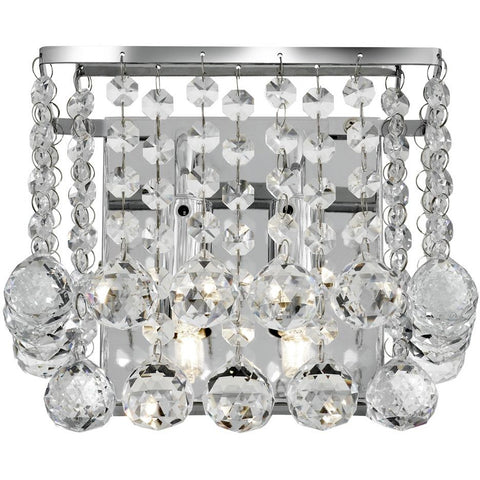 Marco Tielle 'Hannah' 2 Light Crystal Wall Lights Square & Circle