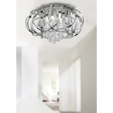 Searchlight 5973-3CC. Tiara/Crown Crystal 3-Light Ceiling Chandelier. Pendant, [product_variation] - Freedom Homestore