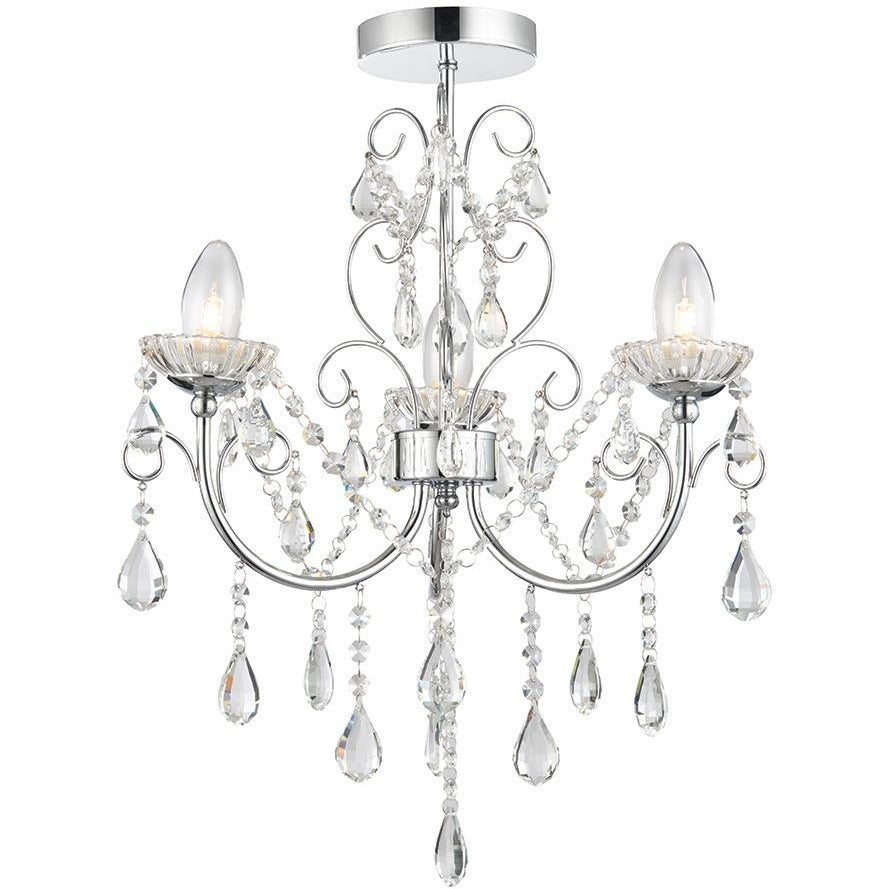Bathroom Chandelier, Saxby 'Tabitha' 61251. 3-Light IP44 Waterproof Chrome, [product_variation] - Freedom Homestore
