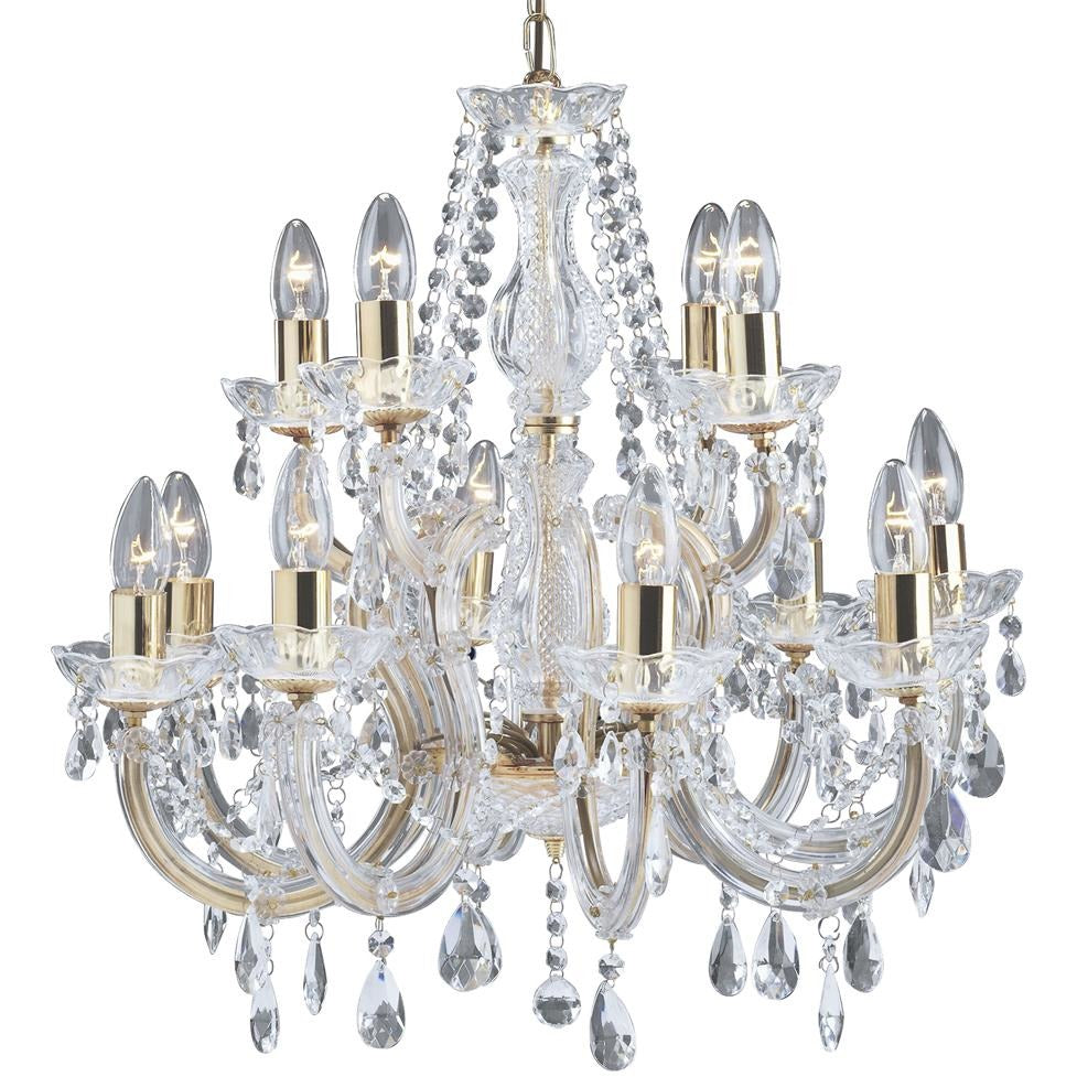 Marco Tielle 12 Light / 2 Tier Marie Therese Chandelier 699-12 Antique Brass, [product_variation] - Freedom Homestore