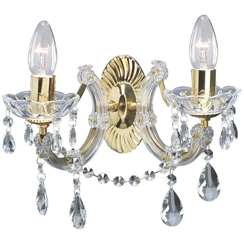 Marco Tielle Marie Therese Glass Crystal Wall Light in Polished Brass or Chrome, [product_variation] - Freedom Homestore