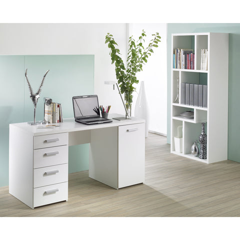Tvilum Large PC Computer Desk / Dressing Table, with Storage. Black or White.