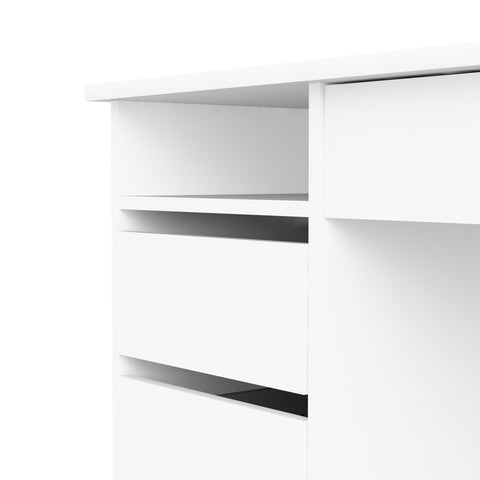 "Tvilum ""Function Plus"" Lockable PC Computer Desk With Drawers. White Finish"