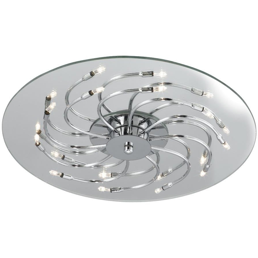 "Searchlight ""Swerly"" Chrome Ceiling Light Halogen Pendant Semi Flush 8012-12cc, [product_variation] - Freedom Homestore"