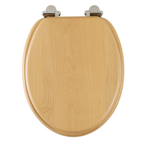 Roper Rhodes Real Beech Solid Wood Toilet Seat. Soft Close, Top Fix, Easy Clean.