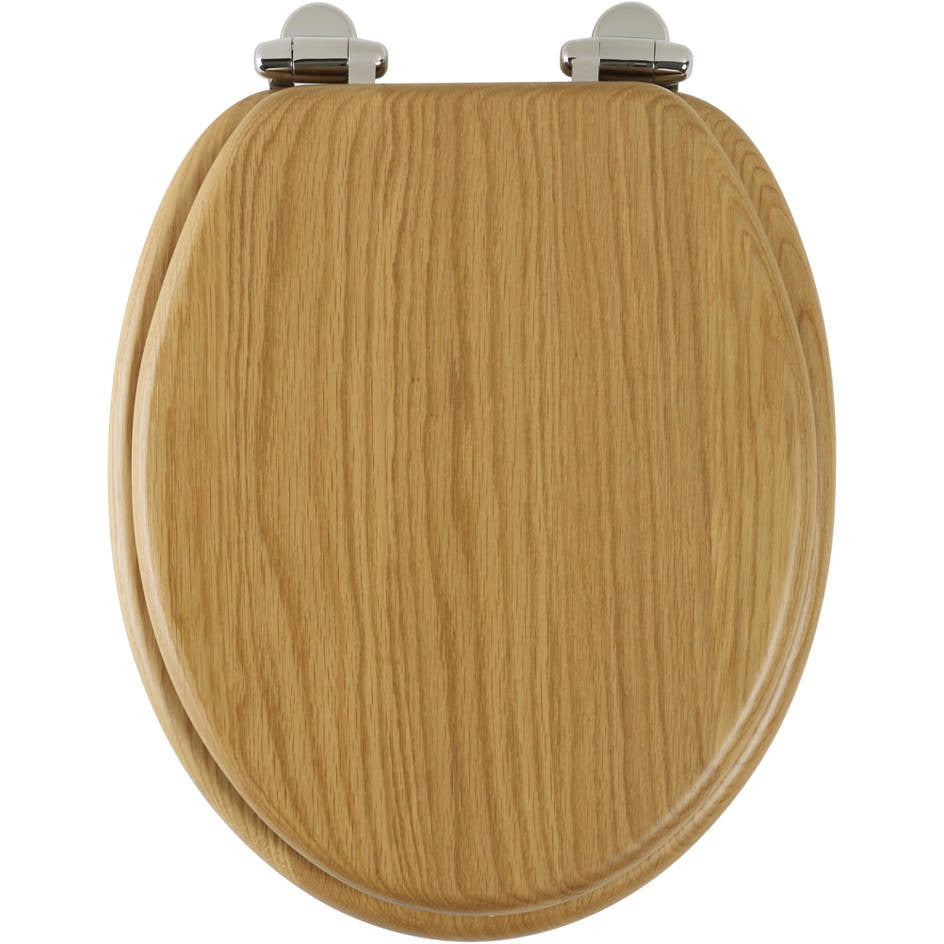 top fixing wooden toilet seat. Roper Rhodes Real Solid Oak Wood Toilet Seat  Soft Close Top Fix Easy Clean