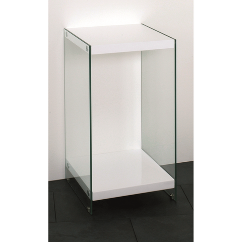 Olympia Designer High Gloss White Tables With Tempered Glass Sides, [product_variation] - Freedom Homestore